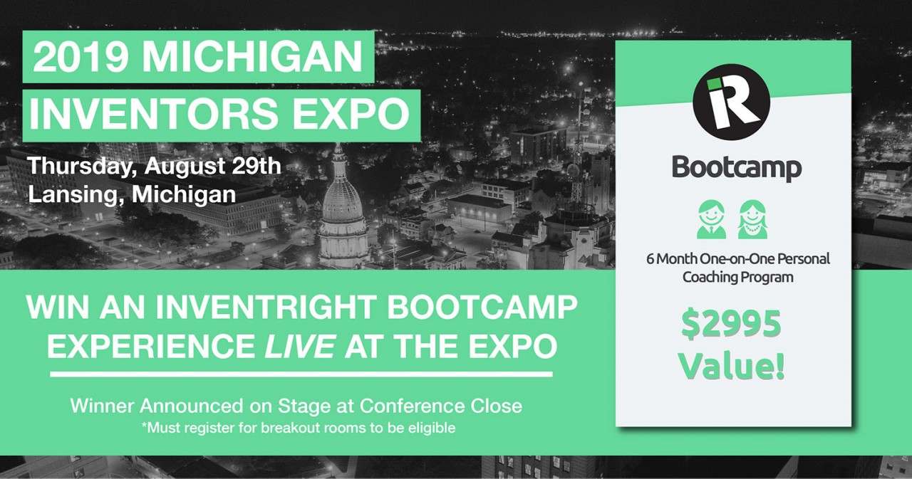 We're Giving Away an inventRight Bootcamp Coaching Package Live at the 7th Annual Michigan Inventors Expo Tomorrow!